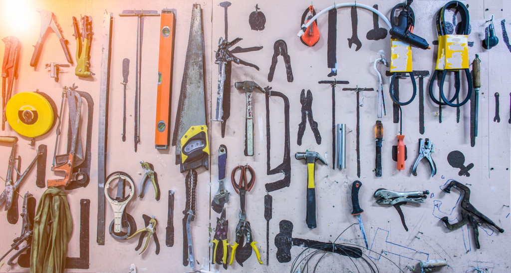 tool storage on the wall