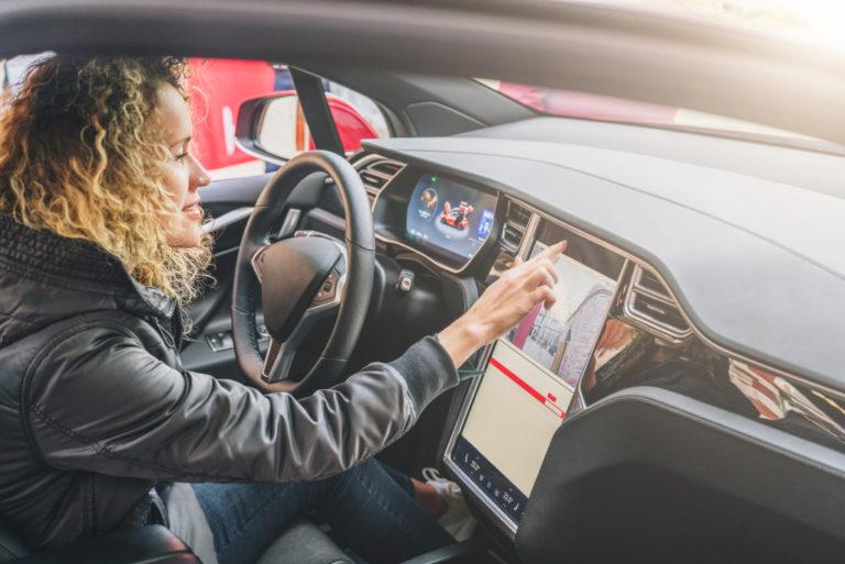 woman navigating